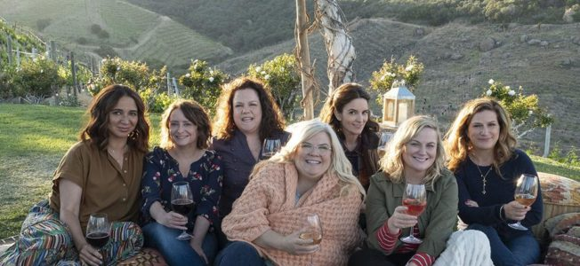 The stars of Wine Country which contains a BRCA theme