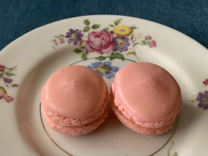 Two pink macrons remind me of my BRCA bilateral mastectomy
