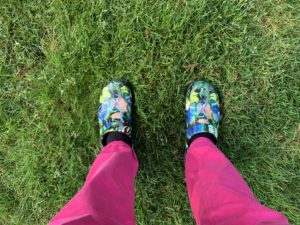 Standing tall in my butterfly shoes deciding on my own label